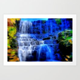 White Coppice Falls Art Print