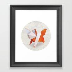 Origami Fox Framed Art Print
