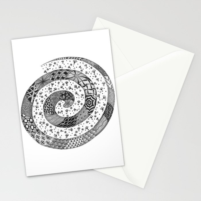Zentangle®-Inspired Art - ZIA 47 Stationery Cards