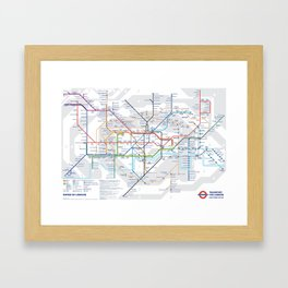 The London Underground Framed Art Print