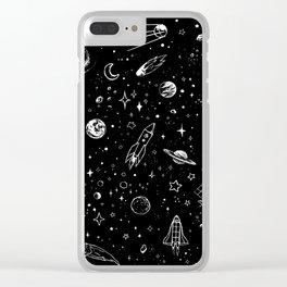 Space Stuff Clear iPhone Case