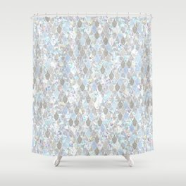 Holographic Mermaid Shower Curtain