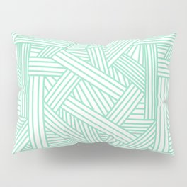 Sketchy Abstract (Mint & White Pattern) Pillow Sham