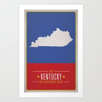 kentucky Art Prints featuring KENTUCKY by Matthew Justin Rupp