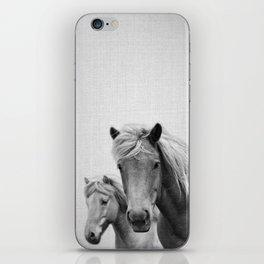 Horses - Black & White iPhone Skin