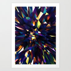 Low Iris Poly Art Print