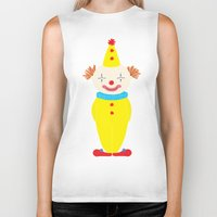 circus Biker Tanks featuring Circus by Lydia Meiying