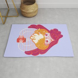 Cozy Cat Scarf Coffee Time Rug