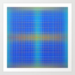Glow Big Plaid Art Print