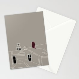 Cityscape Urban Illustration in Warm Grey Stationery Cards