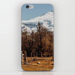 Mountain from the base of the thundering hill iPhone Skin