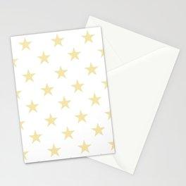 Stars (Vanilla/White) Stationery Cards