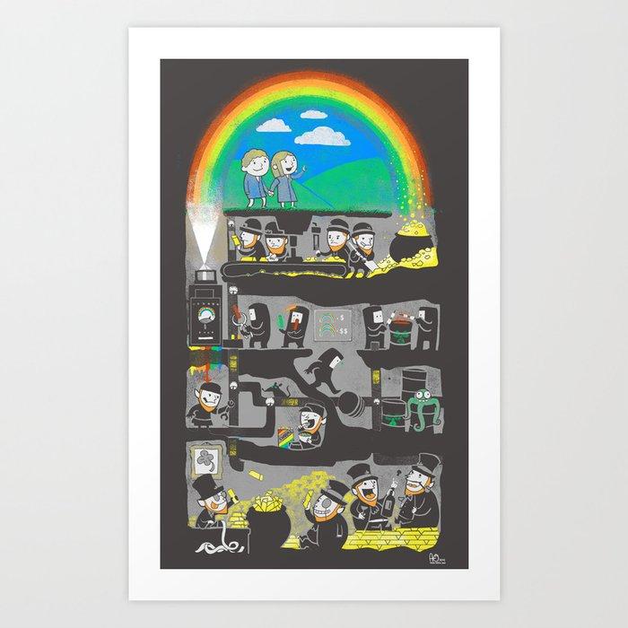 End of the Rainbow Art Print