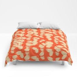 Butterflies Orange Comforters