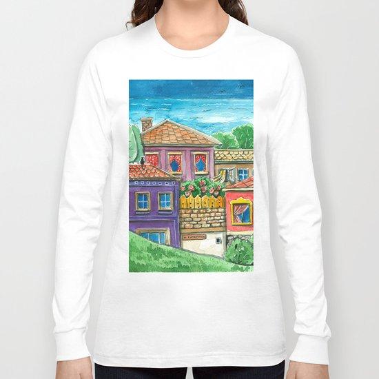 Doodle houses  Long Sleeve T-shirt