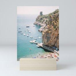 Beach between Amalfi and Positano | Southern Italy Travel | Mediterrenean Coast Photography Mini Art Print