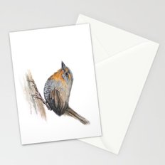 Chucao Bird Watercolor Animal Portrait Stationery Cards