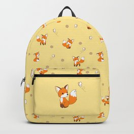 Cute Little Fox Watching Butterly Backpack