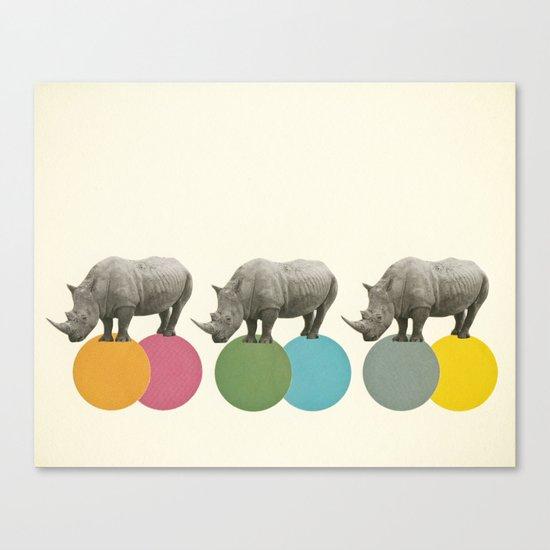 Rambling Rhinos Canvas Print