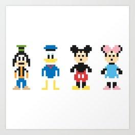 The Pixel Gang Art Print