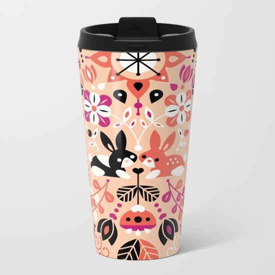 Bunny Lovers Metal Travel Mug