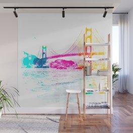Golden Gate bridge, San Francisco, USA with beach view Wall Mural