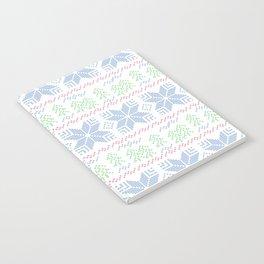 Christmas pattern. Cross-stitch Notebook