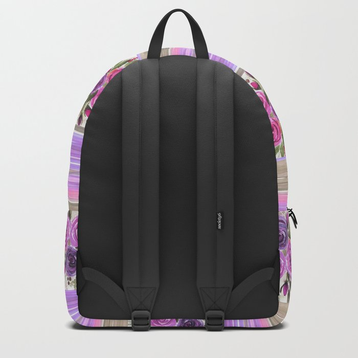 Watercolor. Patchwork Backpack