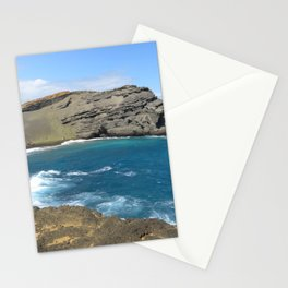 Green Beach and Turquoise Ocean Stationery Cards