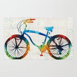 Colorful Bike Art - Free Spirit - By Sharon Cummings Rug