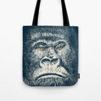 gorilla Tote Bags featuring Gorilla by Lara Trimming