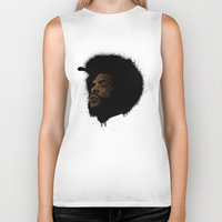 tupac Biker Tanks featuring Questlove 2.0 by The Art Warriors