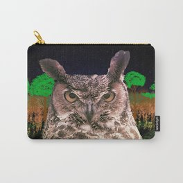 The Owlbserver In The Forest Carry-All Pouch