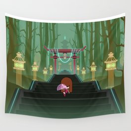 Stairway To The Temple Wall Tapestry