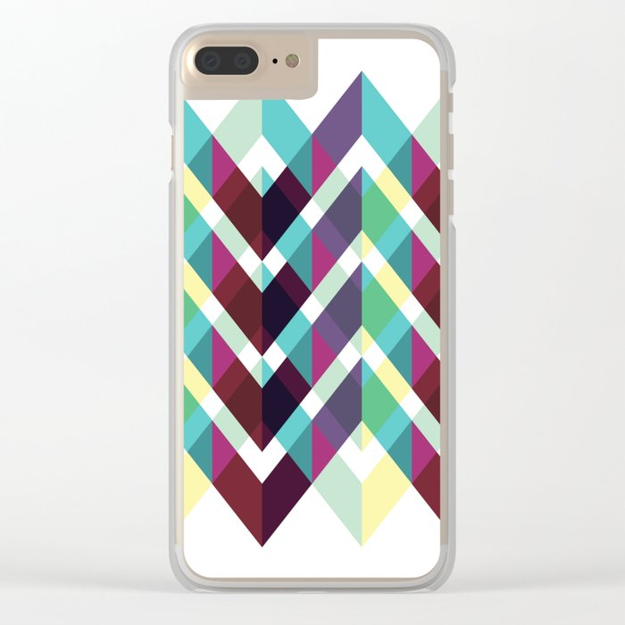Geometric Pattern #4 (Zig Zag) Clear iPhone Case