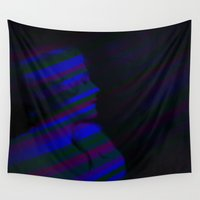siren Wall Tapestries featuring Siren of Silence 01H by Batch Process