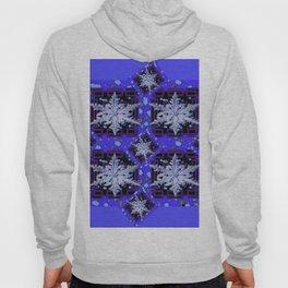 BLUE WINTER HOLIDAY SNOWFLAKES PATTERN ART Hoody