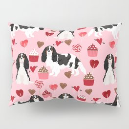 Cavalier King Charles Spaniel tricolored valentines day cupcakes dog breed spaniels pet gifts Pillow Sham