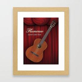 Flamenco Spanish Guitar Music Framed Art Print