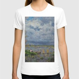 Boat amid the lilies (Pêche_aux_anguilles) by Isidore Verheyden T-shirt