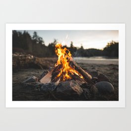 Campfires along the Coast Art Print