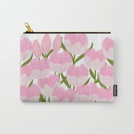 Gouache Tulips - Pink & Green Carry-All Pouch