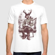 The Deer Hunter  MEDIUM Mens Fitted Tee White