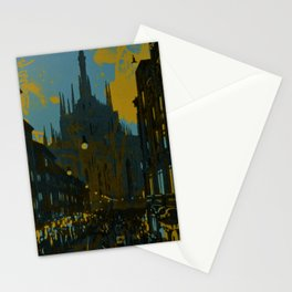 Vintage Made Modern: Italian Cityscape with Abstract Texture Stationery Cards