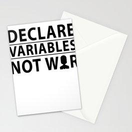 Coder SQL variables War Nerd developers Gift Stationery Cards