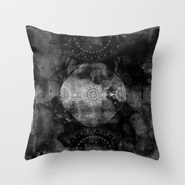 a shouting ghost moves across the sky Throw Pillow