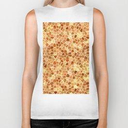 Faux Giraffe Skin Abstract Pattern Biker Tank