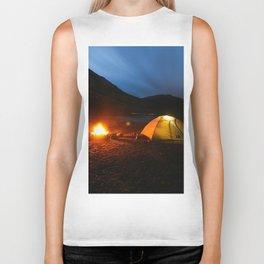 Camping Under a Midnight Sun Biker Tank