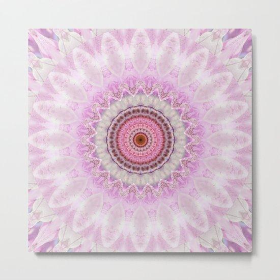 Mandala Magnolia Metal Print