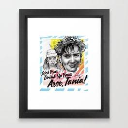 Stick Your Drink! Framed Art Print
